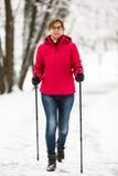 Nordic walking Stock Images