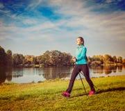 Nordic walking Royalty Free Stock Images