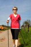 Nordic walking woman 2 Stock Photos