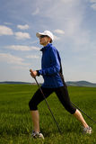 Nordic walking woman 2 Stock Photo