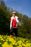 Nordic walking woman Royalty Free Stock Photography