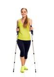 Nordic walking woman Royalty Free Stock Image