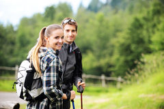 Nordic Walking Royalty Free Stock Photography