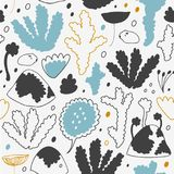 Nordic winter forest, scandinavian seamless vector pattern. Decorative cosiness background. Royalty Free Stock Photo