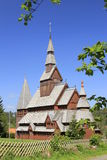 Nordic wood church Stock Photography