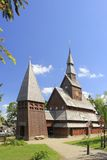 Nordic wood church Stock Images