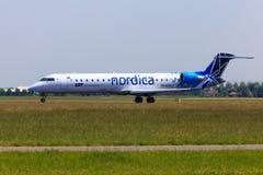 Nordica CRJ-700 Royaltyfria Foton