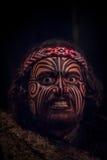 NORDinsel, NEUES SEELAND 17. MAI 2017: Porträt des Tamaki Maori-Führermannes mit traditionsgemäß tatooed Gesicht herein Lizenzfreies Stockfoto