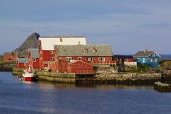 Nordischer Fischereihafen lizenzfreie stockfotos