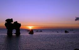 Nordischer Sonnenuntergang Stockbild