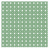 Nordisches grünes und weißes nahtloses Muster Stockfotografie