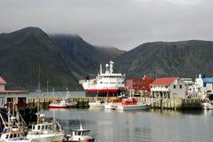nordisk hamn Fotografering för Bildbyråer