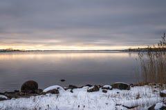 Nordisk kustlinje Royaltyfri Bild
