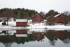 Nordisk kustlinje Royaltyfria Foton