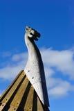 Nordisk skulptur nära Dannevirke som är nyazeeländsk arkivbilder