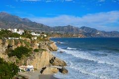 Nordküste von Nerja, in Spanien Lizenzfreie Stockfotos