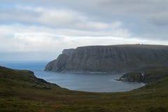 Nordkap, Nordkapp, auf der Nordküste der Insel von Mageroya in Finnmark, Ansicht von Knivskjellodden, Nord Lizenzfreie Stockfotografie