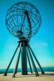 Nordkapp globe monument at north cape norway. At nordkapp Stock Photography