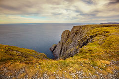 Nordkapp, Norway. Fjord with clougy sky. Nordkapp, Norway Royalty Free Stock Photos