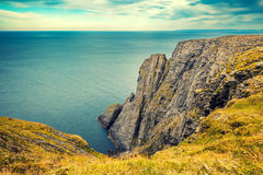 Nordkapp, Norway. Fjord with clougy sky. Nordkapp, Norway Royalty Free Stock Image