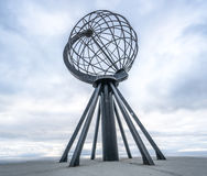 Nordkapp, Norway - June 6, 2016: Globe monument at Nordkapp, the northernmost point of Europe Stock Photos