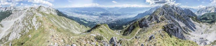 Nordkette berg i Tyrol, Innsbruck, Österrike Royaltyfri Foto