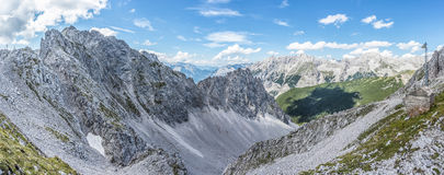 Nordkette mountain in Tyrol, Innsbruck, Austria. Royalty Free Stock Photography