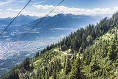 Nordkette mountain in Tyrol, Innsbruck, Austria. Royalty Free Stock Image