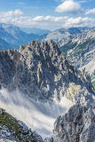 Nordkette mountain in Tyrol, Innsbruck, Austria. Stock Photos
