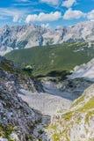 Nordkette mountain in Tyrol, Innsbruck, Austria. Stock Image