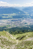 Nordkette mountain in Tyrol, Innsbruck, Austria. Royalty Free Stock Photo