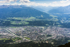Nordkette mountain in Tyrol, Innsbruck, Austria. Royalty Free Stock Photos