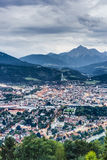Nordkette mountain in Tyrol, Innsbruck, Austria. Royalty Free Stock Images