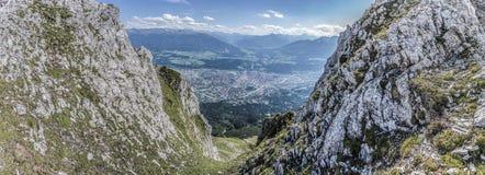 Nordkette mountain in Tyrol, Innsbruck, Austria. Stock Photos