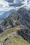 Nordkette mountain in Tyrol, Innsbruck, Austria. Stock Images