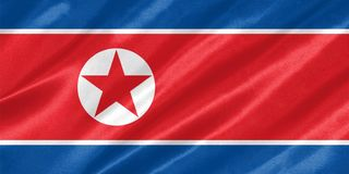 Nordkorea-Flagge vektor abbildung