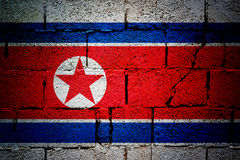 Nordkorea-Flagge Stockfoto
