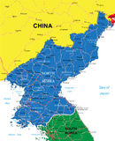 Nordkorea-Karte Stockbilder