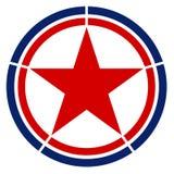 Nordkorea landsroundel arkivfoton