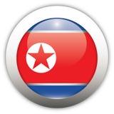 Nordkorea-Markierungsfahnen-Aqua-Taste Lizenzfreie Stockfotos