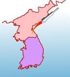 Nordkorea-Produkteinführungsflugkörper Stockfotos