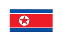 Nordkoreanische Markierungsfahne Stockfotos