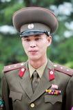 Nordkoreanischer Offizier in der Armee Stockbilder
