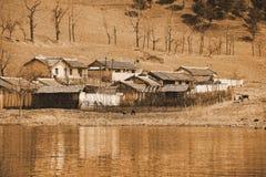 Nordkoreanisches Bauernhaus Stockbild