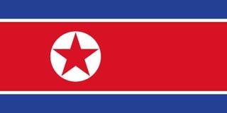 Nordkoreansk flagga, plan orientering, illustration Fotografering för Bildbyråer