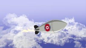 Nordkoreansk kärn- missil royaltyfri illustrationer
