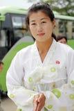 Nordkoreansk kvinnlig 2013 Royaltyfri Fotografi