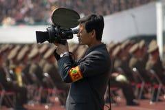 Nordkoreanska cameramen Arkivbilder
