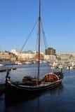 Nordland łódź w schronieniu Bodo fotografia stock