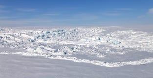 Nordlandvogelperspektive Severnaya Zemlya Lizenzfreie Stockfotos